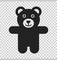 teddy bear plush toy icon on isolated transparent vector image vector image
