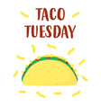 traditional taco isolated on white vector image vector image