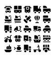 Transport Icons 7 vector image vector image