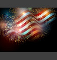 united states flag vector image vector image