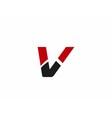 V logo icons vector image vector image