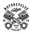 vintage motorcycle workshop logo vector image vector image