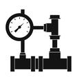 water pipe meter of water gas vector image
