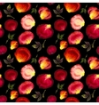 Watercolor seamless pattern of pink and red petals vector image vector image