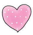 watercolour heart for valentines day vector image vector image