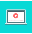 Web Template of Notebook Video Form vector image vector image