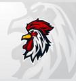 winner winner chicken dinner head mascot logo gami vector image vector image