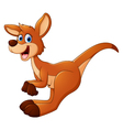 Jumping kangaroo cartoon vector image