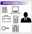 Retro icons for business vector image