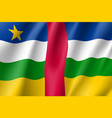 central african republic flag vector image