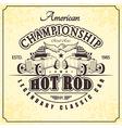 championship hot rod retro vector image