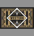 vintage label with old frames layered vector image