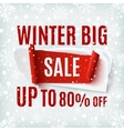 Winter big Sale abstract banner vector image
