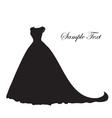 Wedding dress silhouette banner blank template vector image
