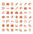 49 school icons vector image vector image