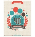 Anniversary abstract background with ribbon and vector image vector image