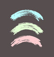 arched brush strokes colorful in pastel colors vector image