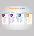 business infographic design template with banners vector image vector image