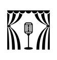 cinema theatre microphon vector image vector image