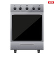 classic kitchen stove vector image vector image