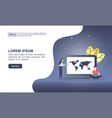 concept seo with character modern conceptual vector image vector image