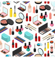 cosmetic products seamless pattern background vector image vector image