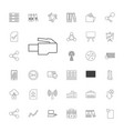 data icons vector image vector image