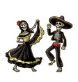 day of the dead dia de los muertos the skeleton vector image vector image