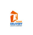 delivery logistics company letter d icon vector image vector image