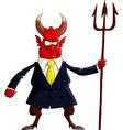 devil boss vector image vector image