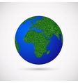 Earth with grass instead of continents vector image vector image