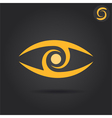 Eye logo sign vector image vector image