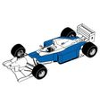 F1 car vector image