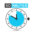 Fifty Minutes Stop Watch - Clock vector image vector image