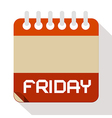 Friday Paper Calendar vector image