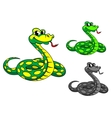 Funny cartoon python snake vector | Price: 1 Credit (USD $1)
