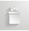 gift box on the white vector image vector image