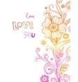 Greeting card for wedding or valentines day vector image vector image