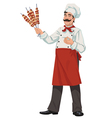 Happy chef vector image vector image
