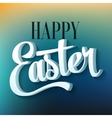 Happy easter typography on blur background vector image vector image