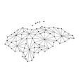 honduras map of polygonal mosaic lines network vector image vector image
