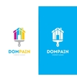 house and brush logo combination Real vector image vector image
