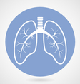 Human lungs silhouette - fluorography vector image vector image