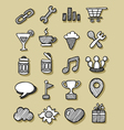 Icons Hand Drawn 3 vector image vector image