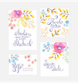 invitation card with watercolor flowers for vector image vector image