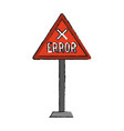 isolated road sign design vector image vector image