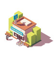 isometric tourist information center vector image vector image