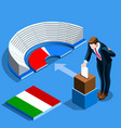 italy election italian people vote at isometric vector image vector image