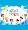 kids zone background design vector image vector image