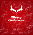 merry christmas background with deer and text vector image vector image